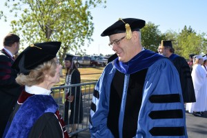 Provost Dan Howard at Commencement